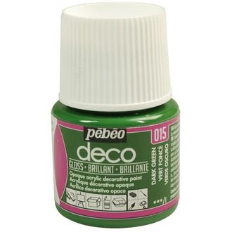 Pebeo - peinture mate pour bois, carton, plâtre, vert foncé en flacon 45 ml