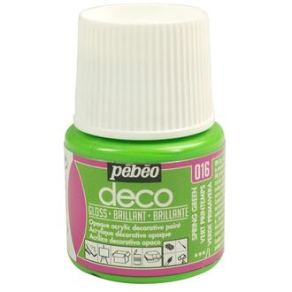 Pebeo - peinture mate pour bois, carton, plâtre, vert printemps en flacon 45 ml