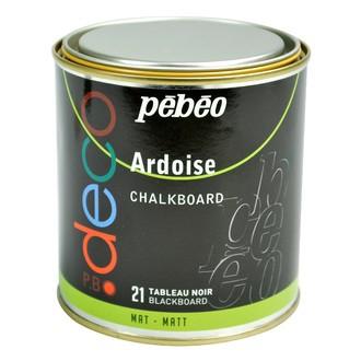PEBEO - Peinture ardoise noir en pot 250 ml