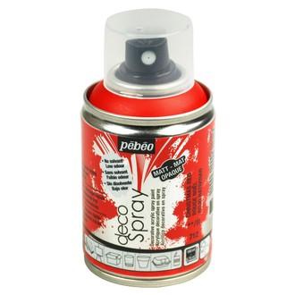 PEBEO - Peinture de décoration rouge en spray 100 ml