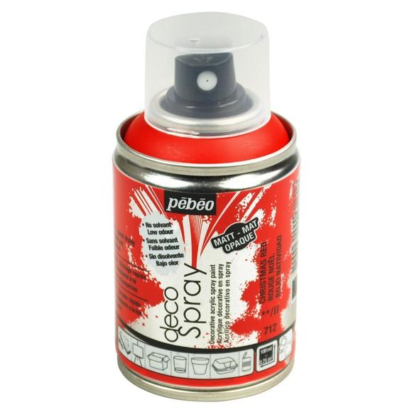Achat en ligne Peinture de décoration rouge en spray 100 ml