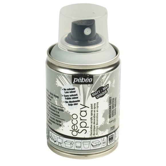 Achat en ligne Peinture de décoration gris moyen en spray 100 ml