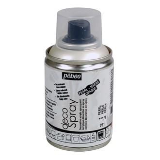 PEBEO - Peinture de décoration gris perle en spray 100 ml