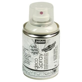 PEBEO - Peinture de décoration paillette argent en spray 100 ml