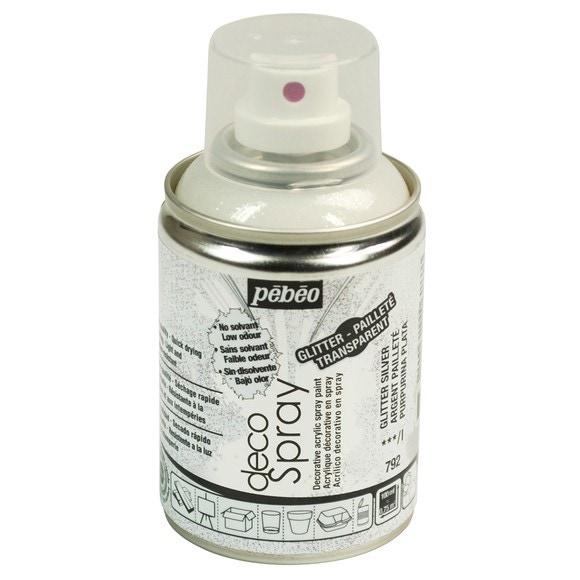 Achat en ligne Peinture de décoration paillette argent en spray 100 ml