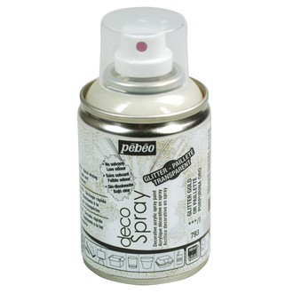 Peinture de décoration paillette or en spray 100 ml