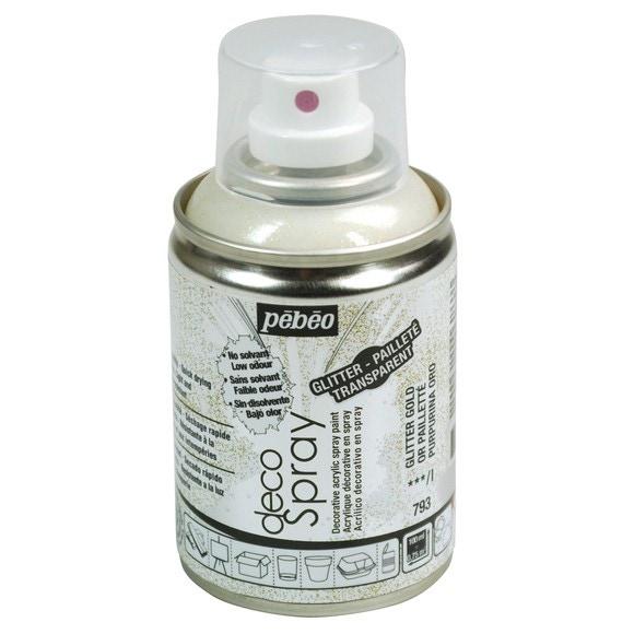 Achat en ligne Peinture de décoration paillette or en spray 100 ml