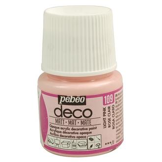 PEBEO - Peinture acrylique mat rose deco 45ml