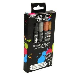 PEBEO - Set de 5 feutres de peinture à l'huile couleurs métalliques 4 mm