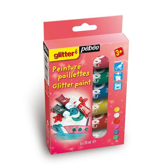 Achat en ligne Kit découverture peinture 6 tubes paillettes