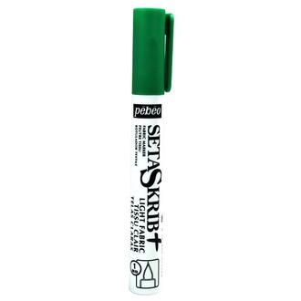 PEBEO - Feutre Setaskrib pour tissus clairs vert avec pointe de 1mm