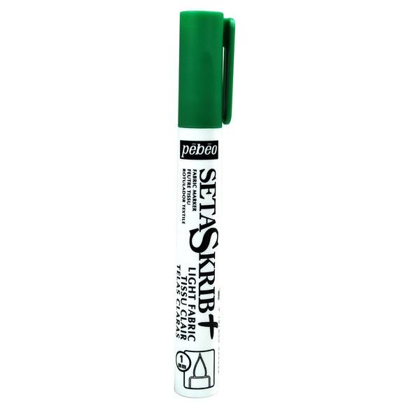 Feutre Setaskrib pour tissus clairs vert avec pointe de 1mm