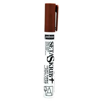 PEBEO - Feutre Setaskrib pour tissus clairs marron avec pointe de 1mm