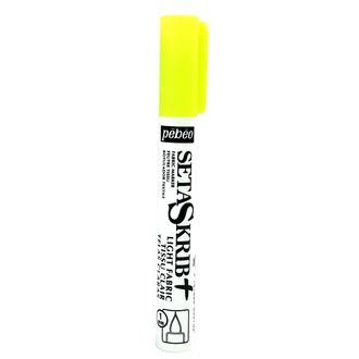 PEBEO - Feutre Setaskrib pour tissus clairs jaune fluo avec pointe de 1mm