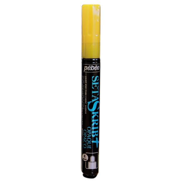 Feutre Setaskrib pour tissus foncés jaune avec pointe 4mm