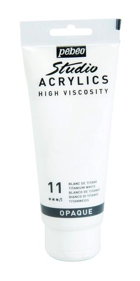 Achat en ligne Peinture acrylique high vicosity blanc titane en tube 100 ml