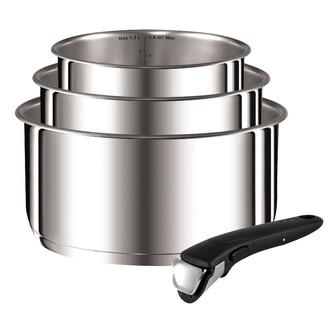 TEFAL - Set de 3 casseroles avec poignée amovible Ingenio 16, 18 et 20cm