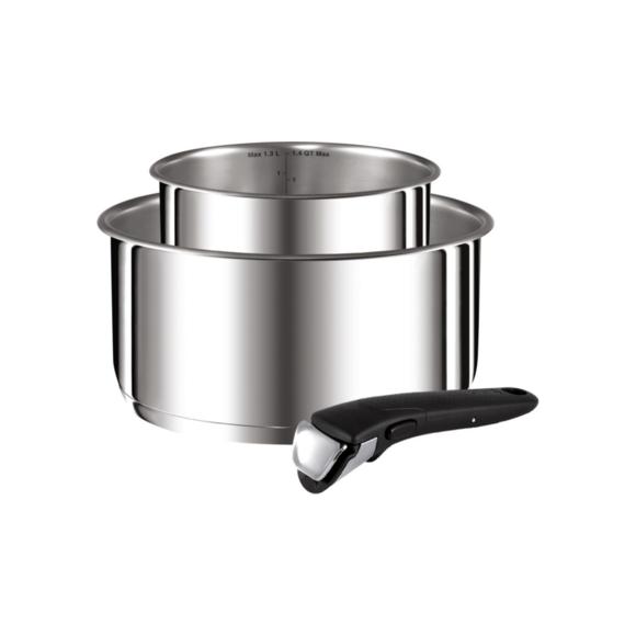 Lot Ingenio Preference inox casserole 18 et 20cm et poignée amovible