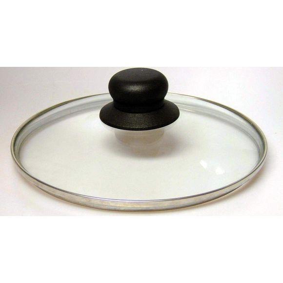 Couvercle en verre bouton bakélite 32cm