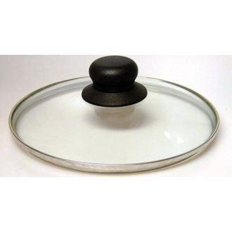Couvercle en verre bouton bakélite 28cm