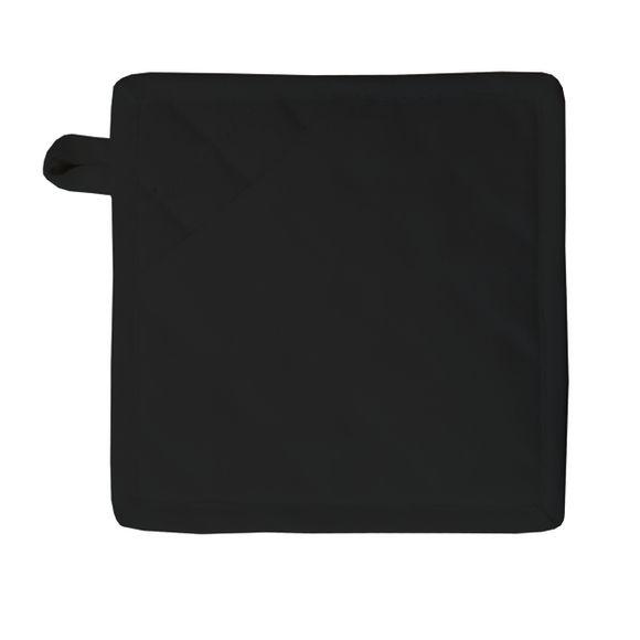 Manique de cuisine 100% coton noir