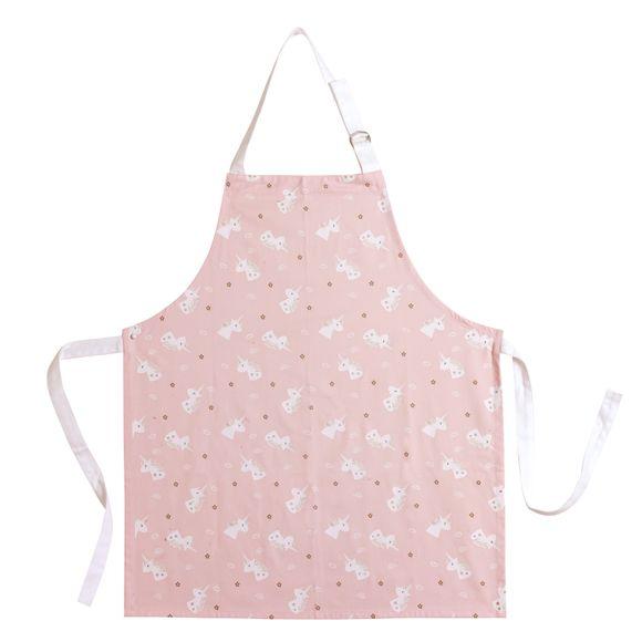 Grembiule da cucina taglia bimbo in cotone a tema unicorno