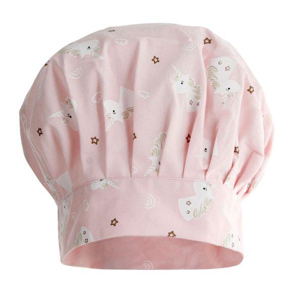 Cappello da chef taglia bimbo in cotone a tema unicorno