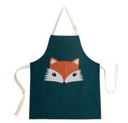 compra en línea Delantal infantil de un zorro en azul verdoso (55 x 65 cm)