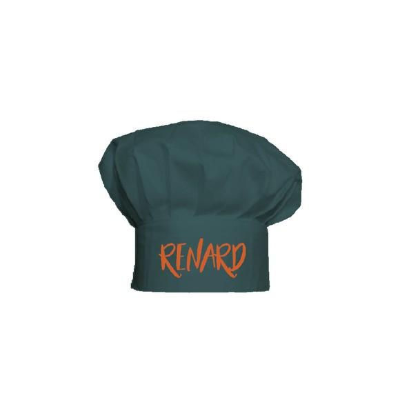Cappello da chef taglia bimbo in cotone a tema Renard