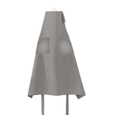 acquista online Grembiule da cucina con pettorina 100% cotone lavato grigio