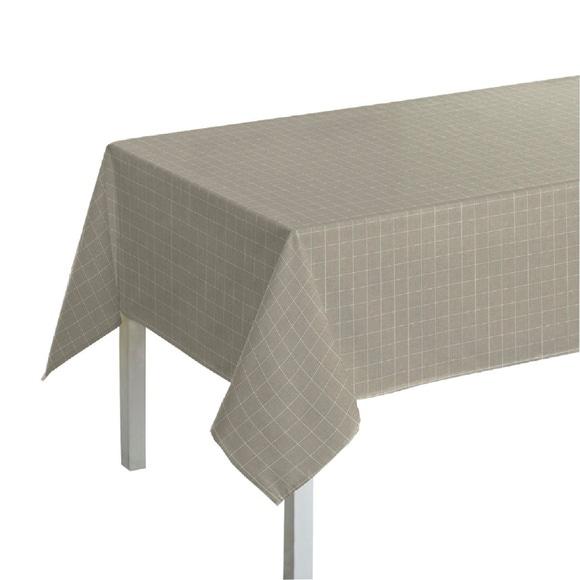 Achat en ligne Nappe 150x150cm en coton imprimé carreaux beige Tourterelle