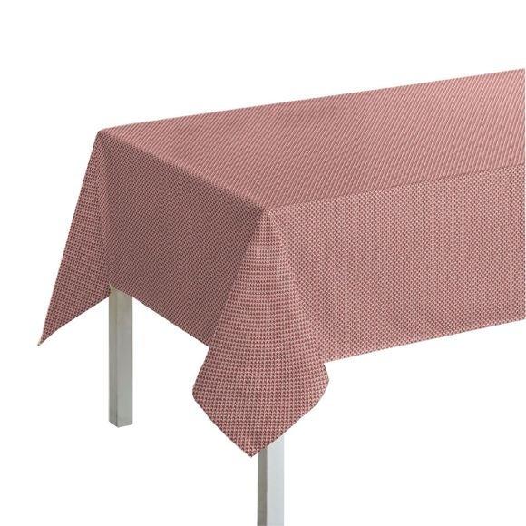 Tovaglia rettangolare in cotone con decori, rosso, 150x250 cm