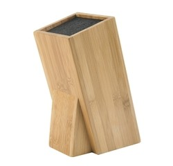compra en línea Bloque de cuchillos universal de madera de bambú