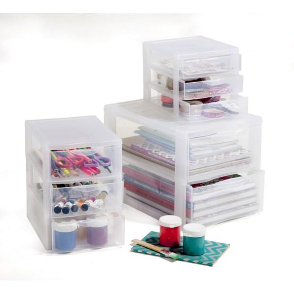 Contenitore Orgamix con 2 cassetti modello medio 36x26x25,5cm