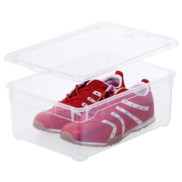 Boîte à chaussures transparente pour homme 33x19x11