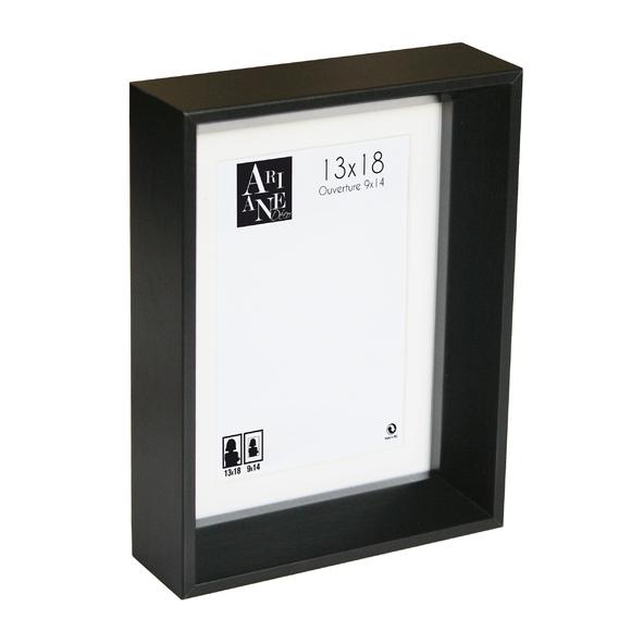 cadre photo 13x18 pente noir avec passe partout pas cher. Black Bedroom Furniture Sets. Home Design Ideas