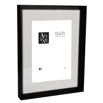 Cadre photo 50x70 pente noir avec passe-partout