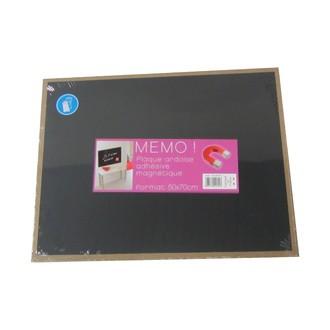 Plaque magnétique ardoise 50x70cm avec adhésifs
