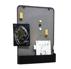 Achat en ligne Pegboard métal noir avec 3 accessoires 35x8x50,5cm