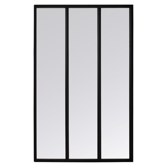 Miroir atelier métal 3 bandes 81x109cm