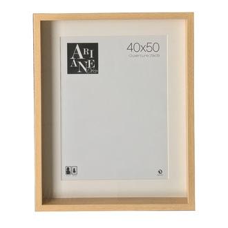 Vitrine photo 40x50 décor chêne avec passe-partout