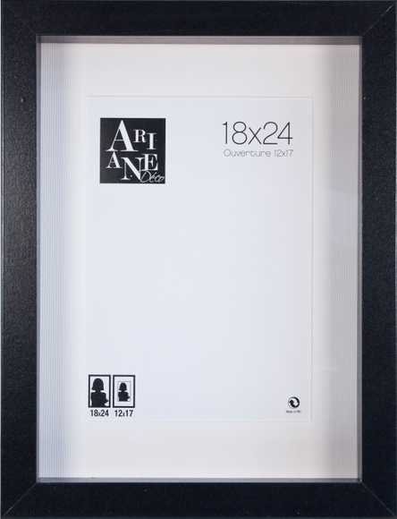 Achat en ligne Cadre vitrine noir 18x24cm