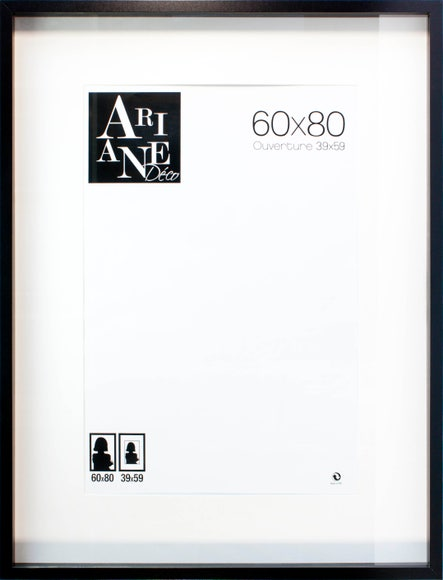 Achat en ligne Cadre vitrine noir 60x80cm