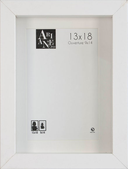 Achat en ligne Cadre vitrine blanc 13x18cm