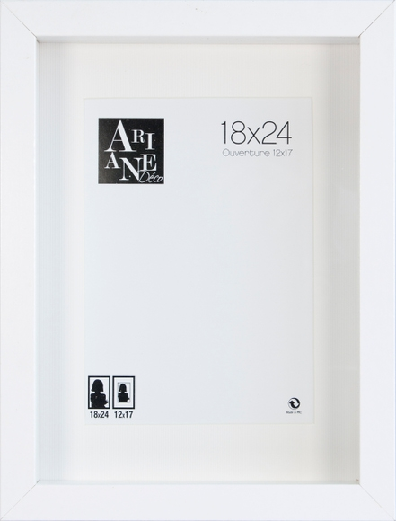 Achat en ligne Cadre vitrine blanc 18x24cm