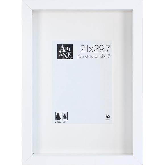 Cadre vitrine blanc 21x19,7cm