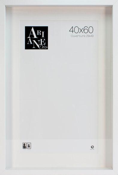 Achat en ligne Cadre vitrine blanc 40x60cm