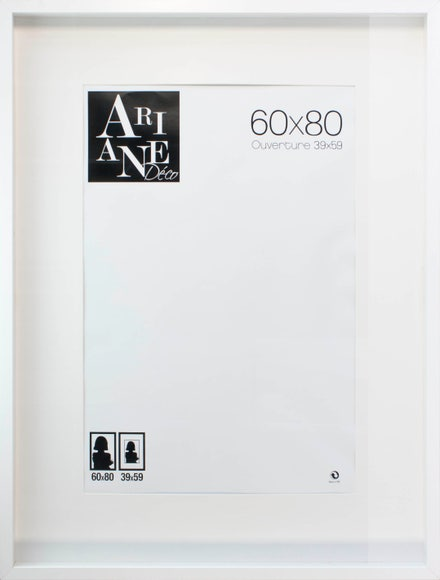 Achat en ligne Cadre vitrine blanc 60x80cm