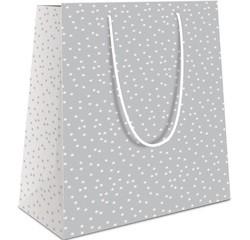 Achat en ligne Sac pochette cadeau 40x32x14cm blanc imprimé étoiles grises
