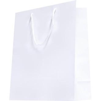 Sac pochette cadeau blanc laqué 7x15cm